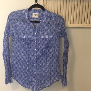 Holding Horses Top Size 2 blue